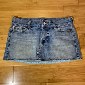 Hollister Denim Mini Skirt Sz 1